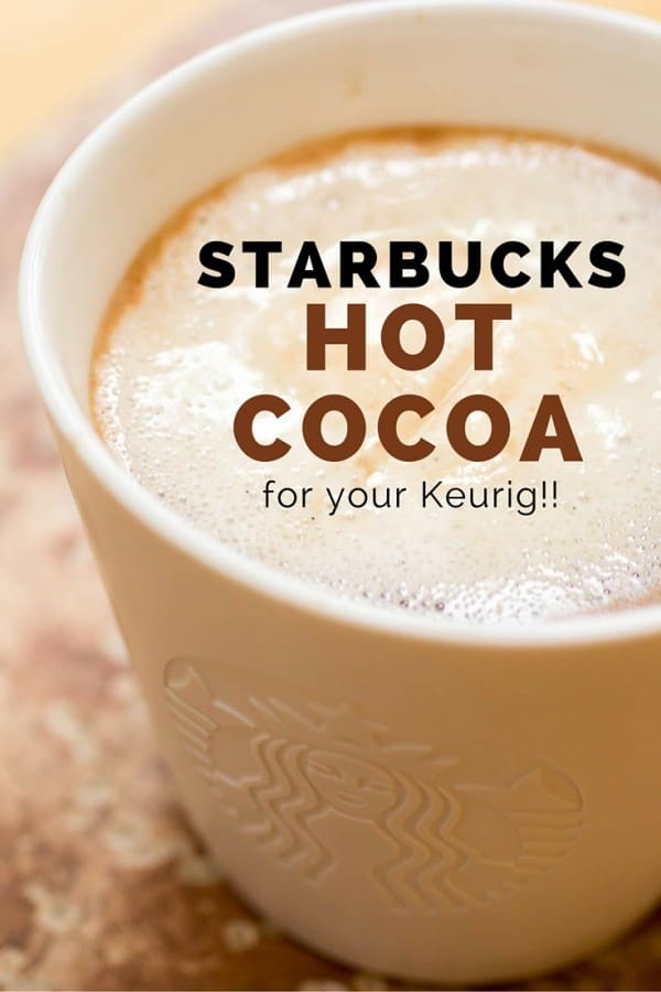 Starbucks Hot Cocoa in the Keurig