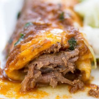 Smothered Burritos in the Instant Pot or Slow Cooker