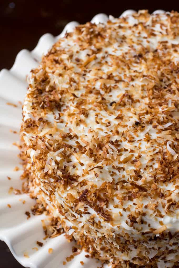 Moist, tender, made-from-scratch coconut cake.