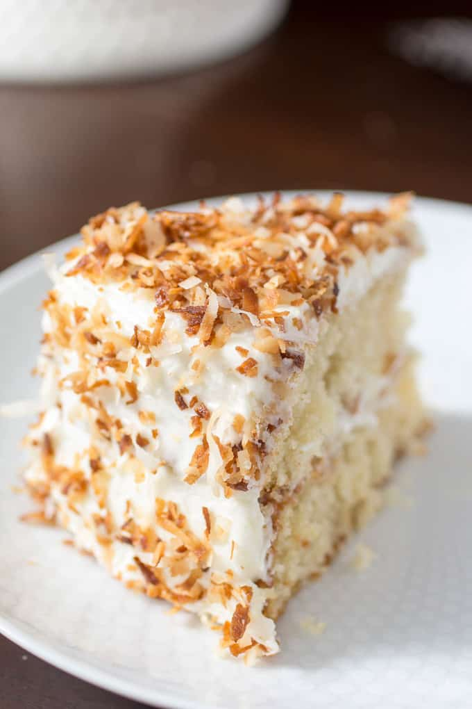 Moist Coconut Cake From Scratch