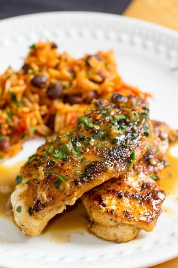 Spicy Mexican Rice & Tequila Lime Chicken-7