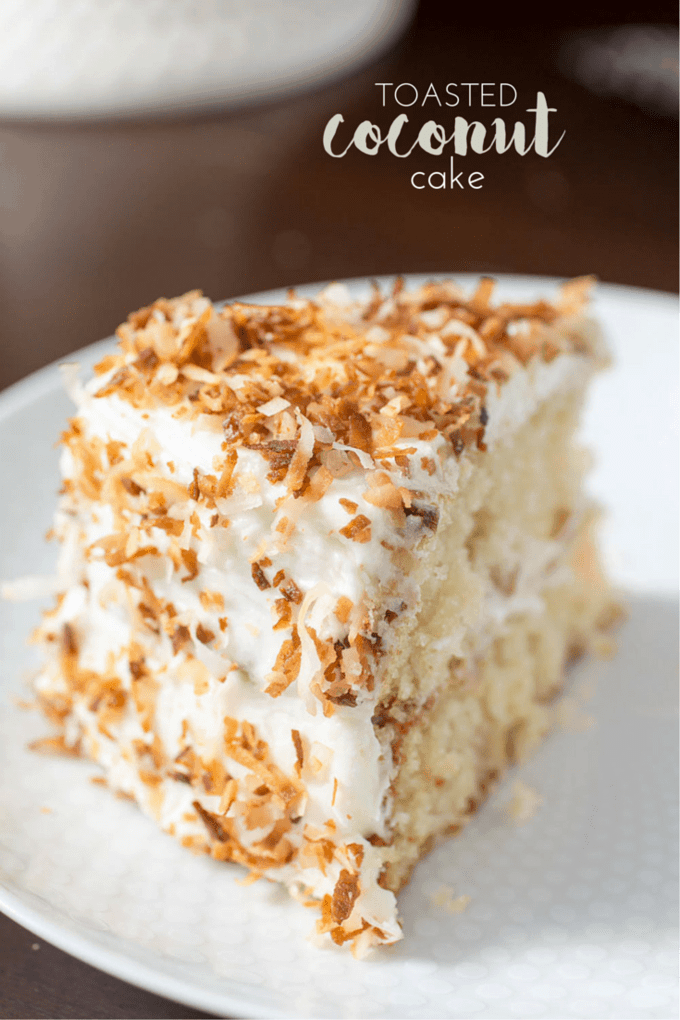 Toasted Coconut Cake slice