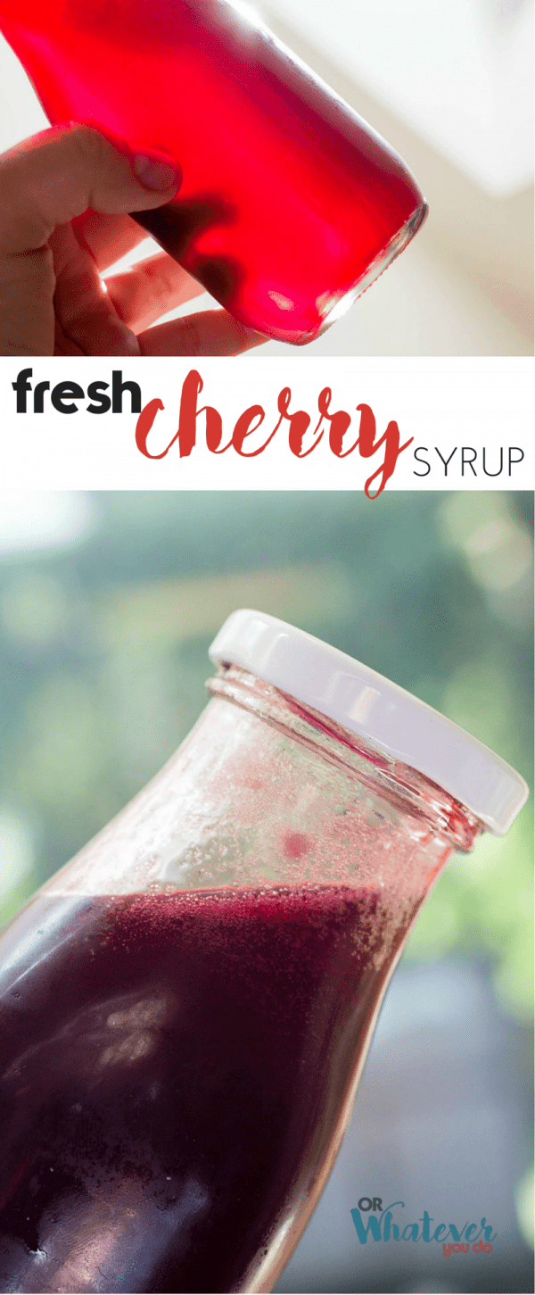 Fresh Cherry Syrup
