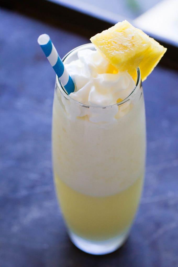 Homemade Pina Colada Delicious Summer Cocktail Recipe