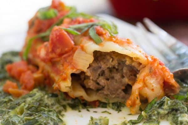 This meatball stuffed manicotti doesn't even require a pre-boil of the noodles. SO tasty.