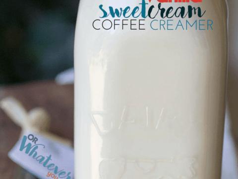 Homemade Vanilla Sweet Cream Coffee