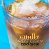 Homemade Vanilla Sweet Cream Cold Brew