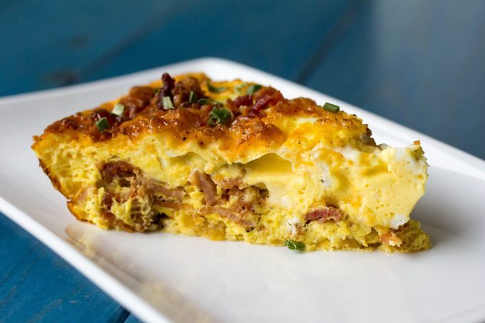 Bacon Cheddar Quiche with Rutabaga