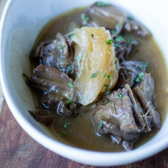 Beer Braised Steak and Onions