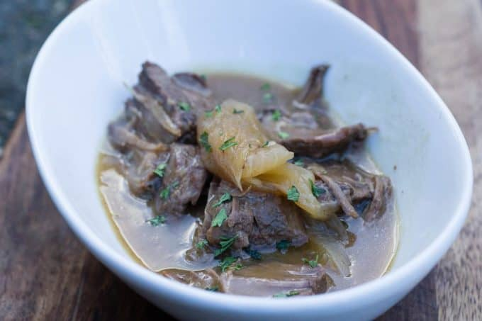 Pressure Cooker Beer Braised Steak and Onions image