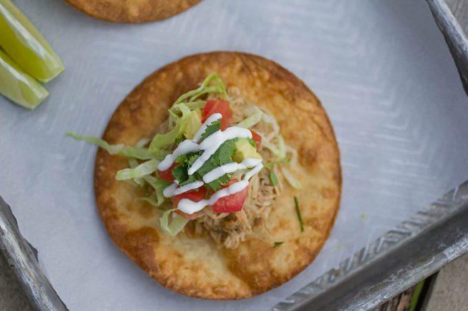 Salsa Verde Pork Tostadas