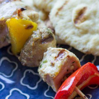 Traeger Garlic Marinated Chicken Kabobs