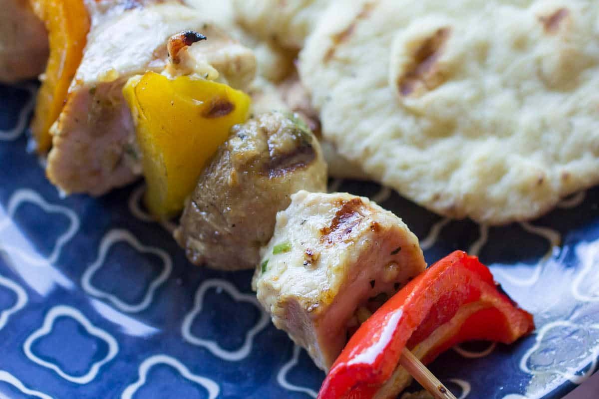 Traeger Garlic Marinated Chicken Kabobs