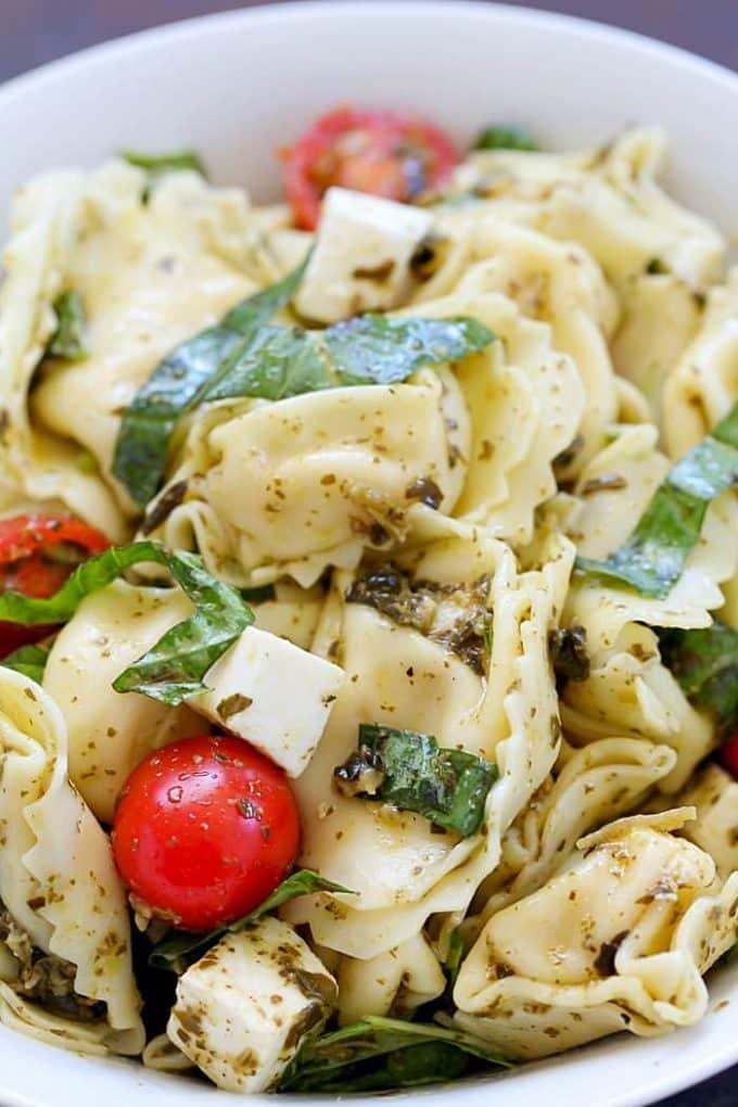 Tortellini Pesto Salad