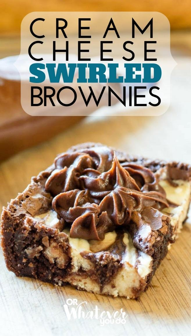 Cream Cheese Swirled Brownies are my FAVORITE.