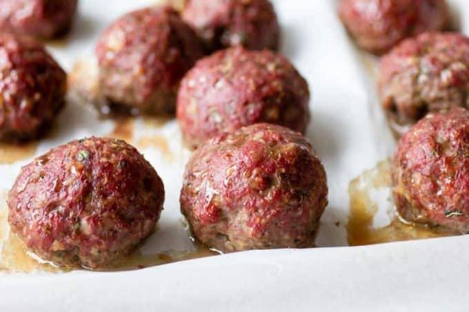 Traeger Smoked Italian Meatballs