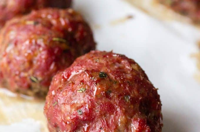 Traeger Smoked Meatball