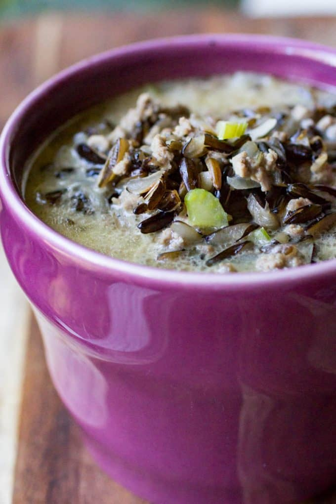Homemade Minnesota Wild Rice Hotdish Soup