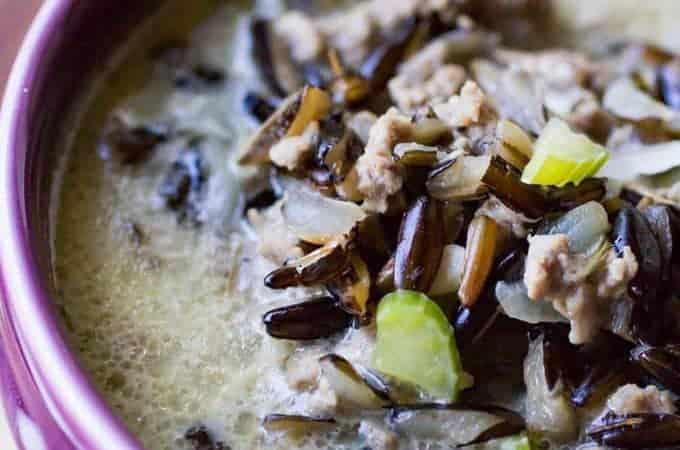 Homemade Minnesota Wild Rice Hotdish Soup