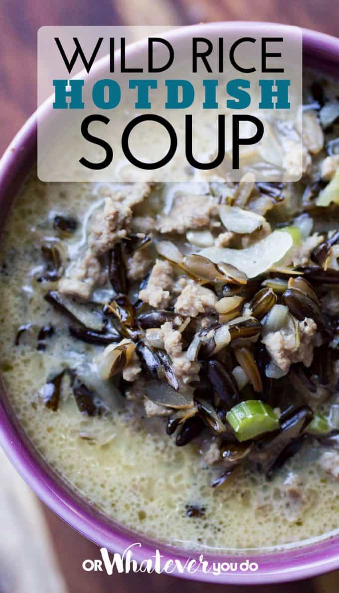 Wild Rice Hotdish Soup