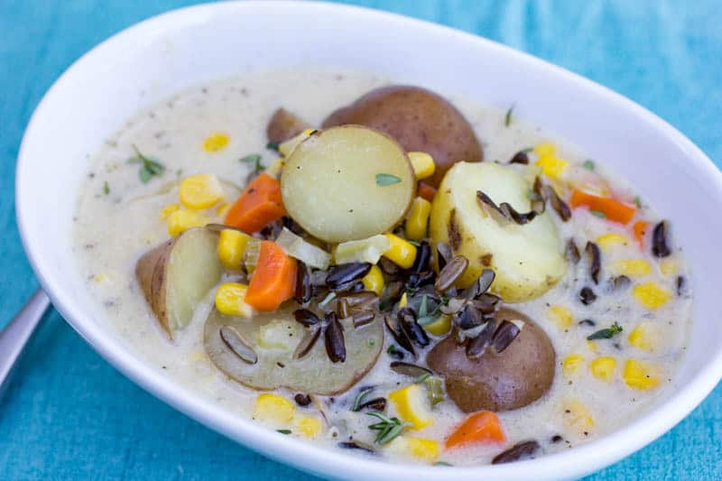 Corn & Potato Chowder with Wild Rice