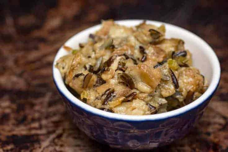 Instant Pot Wild Rice and Mushroom Dressing