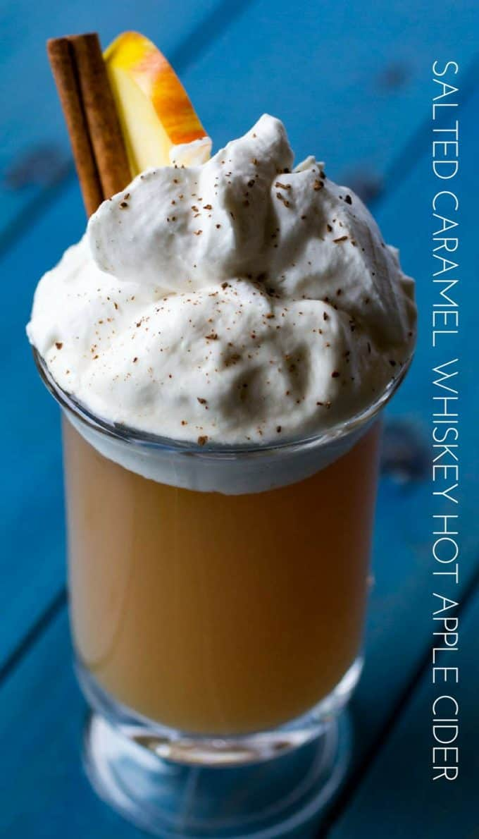 Salted Caramel Whiskey Hot Apple Cider