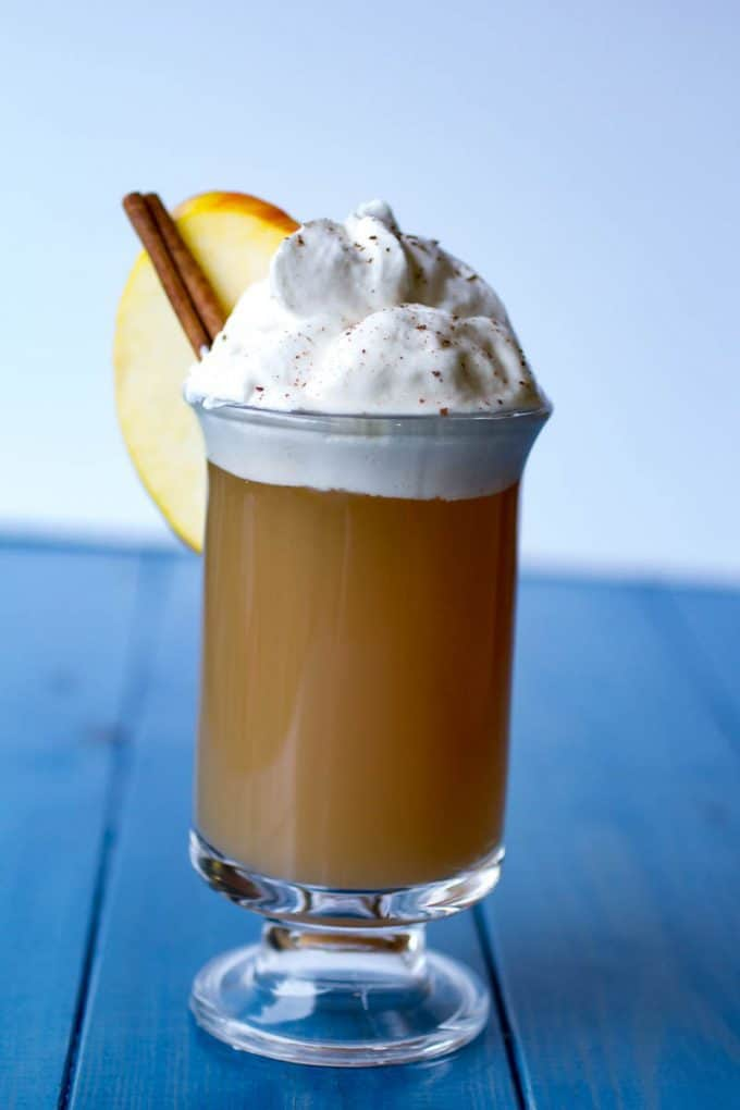 Salted Caramel Spiked Hot Apple Cider