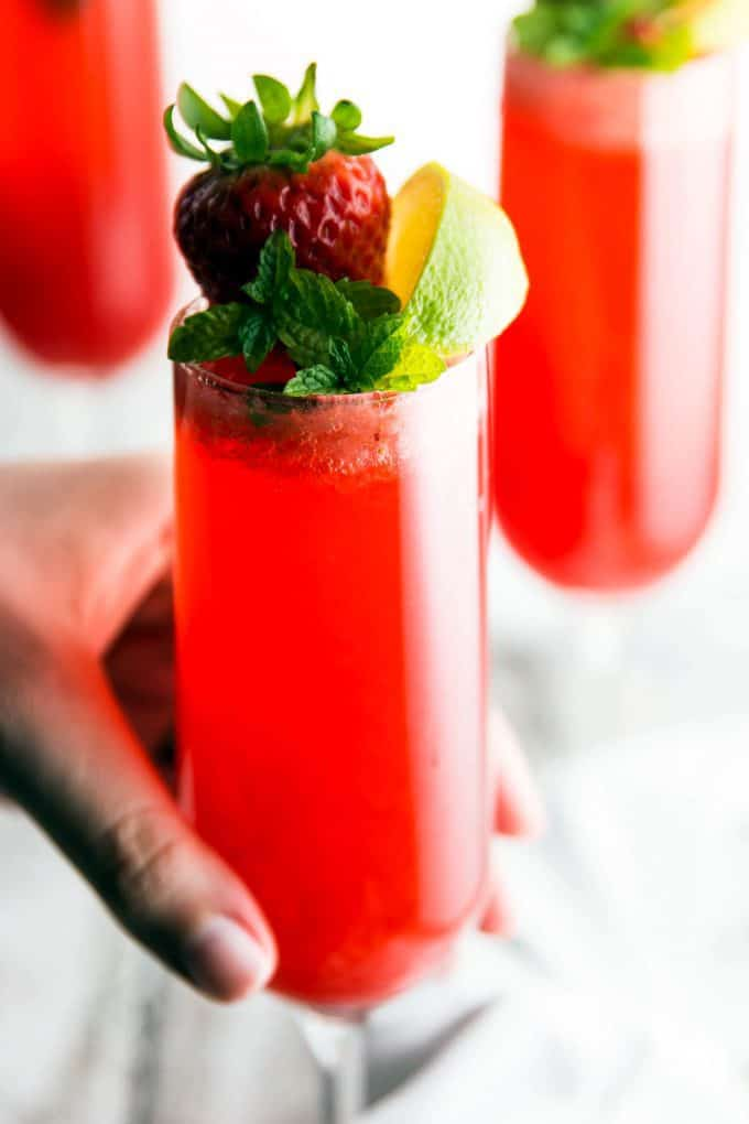 Strawberry-Lime-Champagne-Cocktail