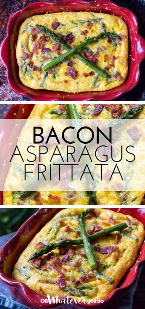 Traeger Bacon and Asparagus Frittata