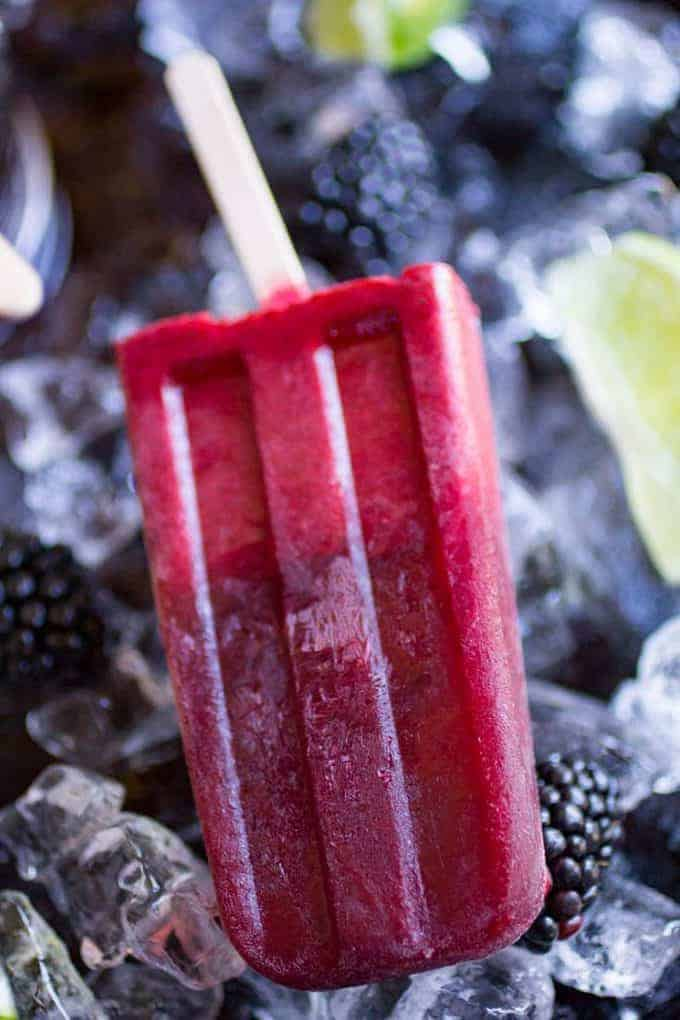 Blackberry Limeade Popsicle