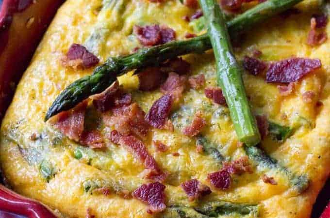 Traeger Bacon and Asparagus Frittata