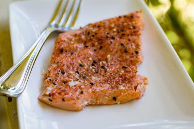 Traeger Togarashi Salmon