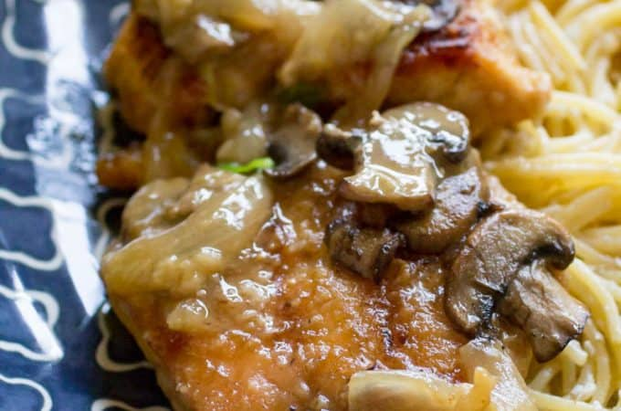 Traeger White Wine Chicken with Mushrooms