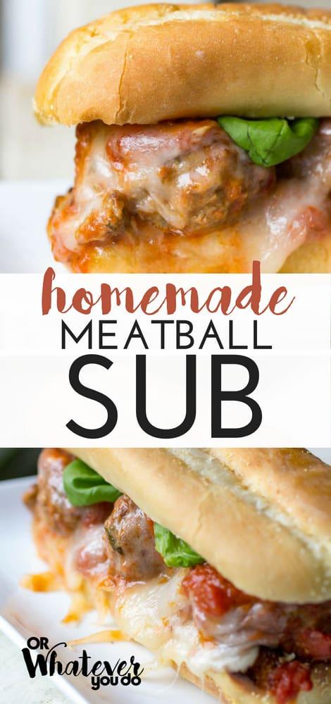 Homemade Meatball Subs