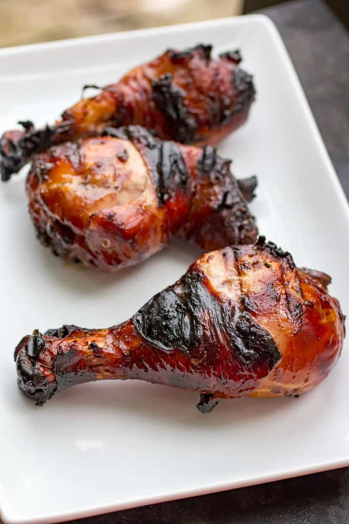 Honey Balsamic Traeger Grilled Chicken Legs