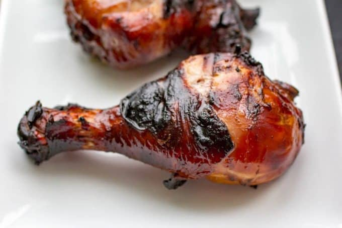 Honey Balsamic Traeger Grilled Chicken Legs