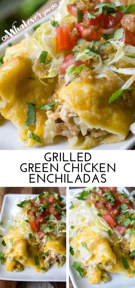 Traeger Green Chicken Enchiladas