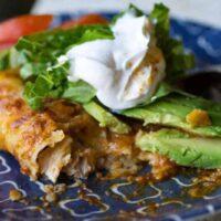 Traeger Green Chile Chicken Enchiladas