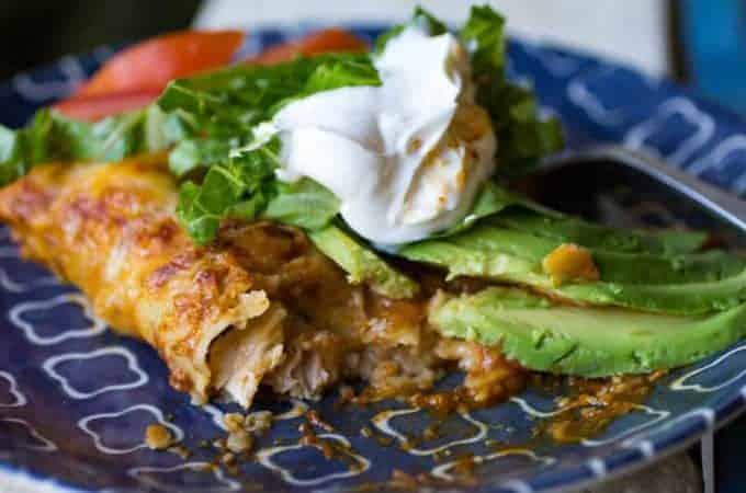 Traeger Grilled Chile Lime Chicken Enchiladas