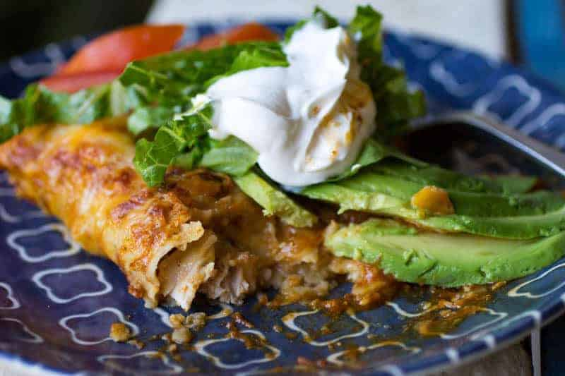 Traeger Grilled Chile Lime Chicken Enchiladas