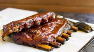 Shortcut Traeger Grilled Pork Ribs