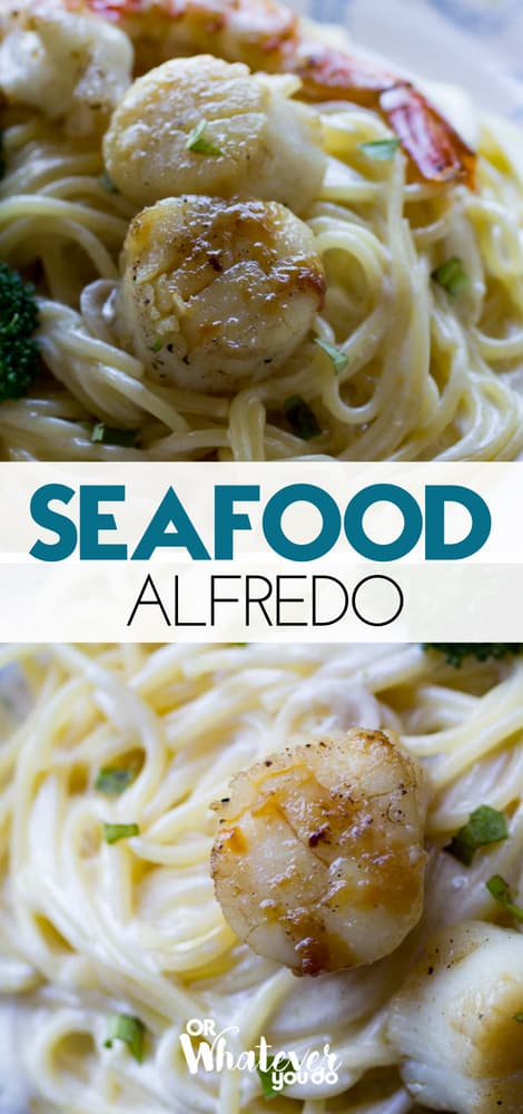 Traeger Seafood Alfredo