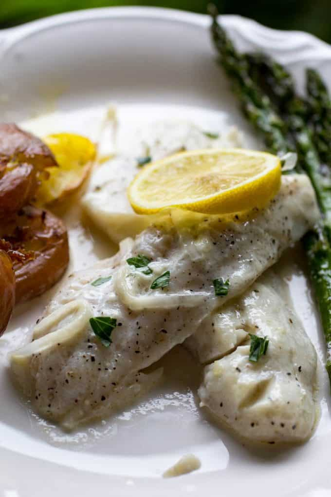 Traeger Walleye with Lemon Cream Sauce