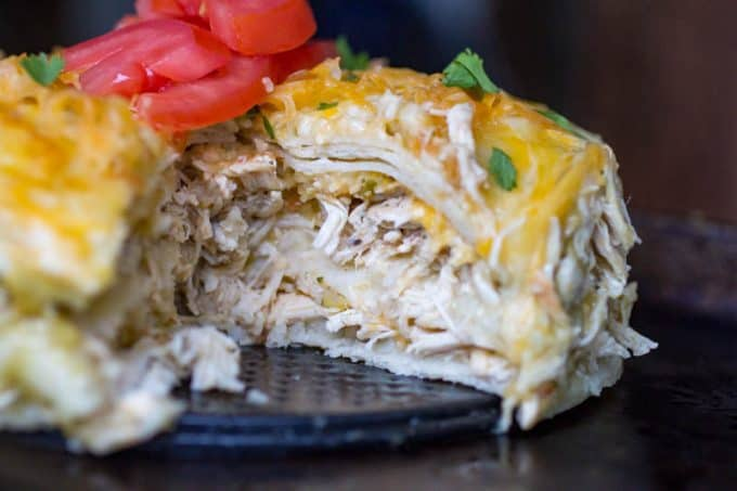Instant Pot Green Chicken Enchilada Casserole