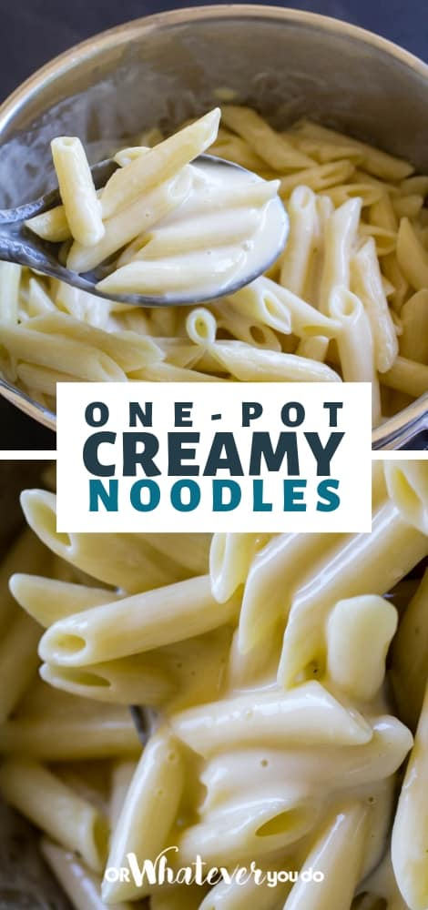 one-pot creamy noodles | easy kid-friendly side dish