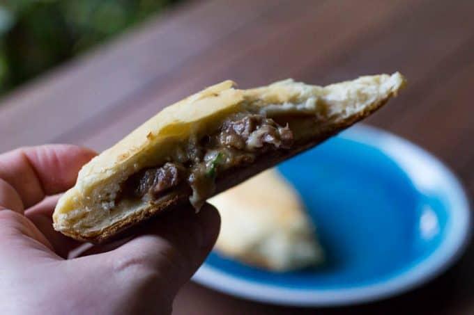Traeger Beef & Mushroom Biscuit Pocket