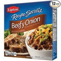 Lipton Recipe Secrets Soup and Dip Mix, Beefy Onion 2.2 oz, Pack of 12