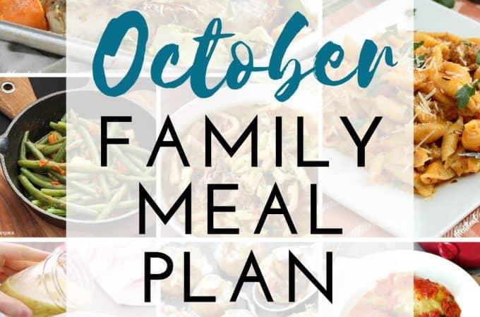 October Meal Plan