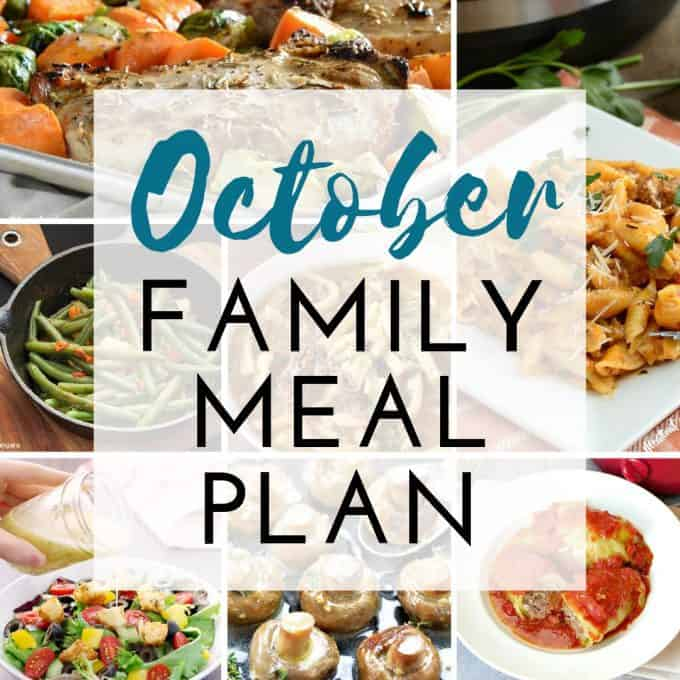 October Meal Plan